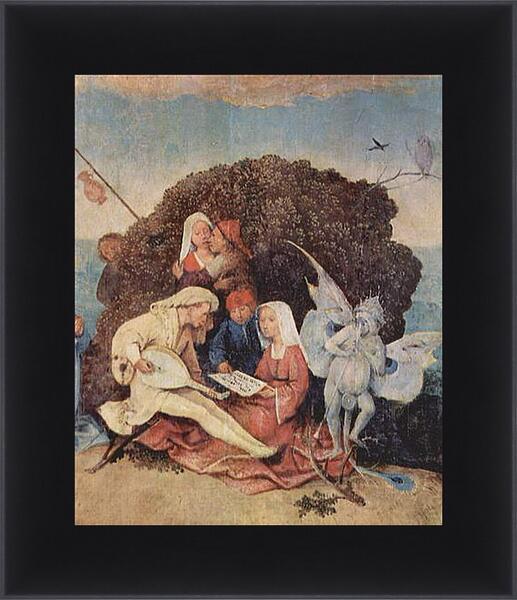 Картина в раме - The Hay Wagon (Detail). Иероним Босх