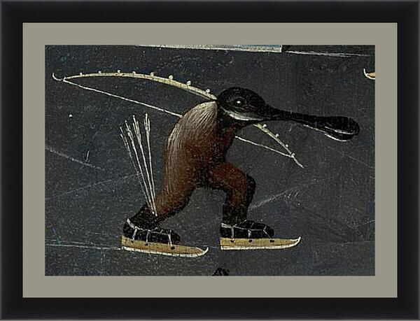 Картина в раме - Skating monster. Иероним Босх