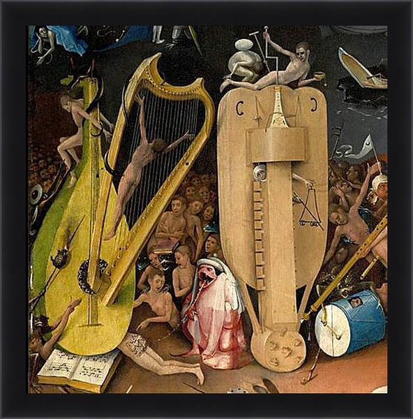 Картина в раме - Musical instruments. Иероним Босх
