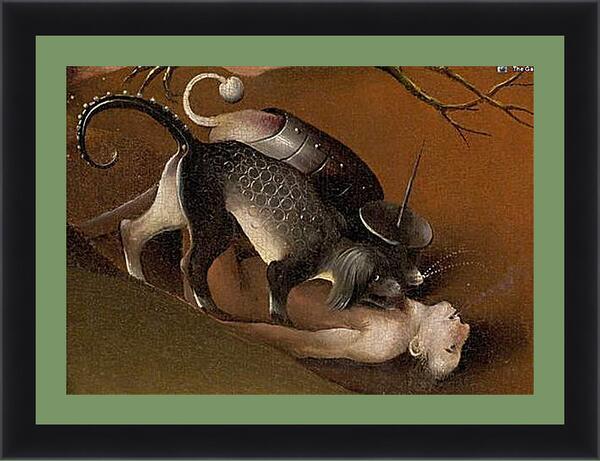 Картина в раме - Cerberus. Иероним Босх
