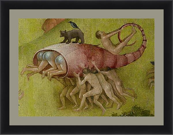 Картина в раме - Lobster shell with people. Иероним Босх