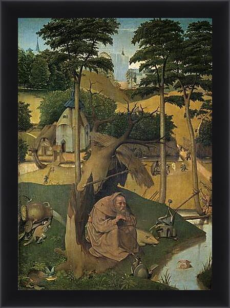 Картина в раме - Tentation de Saint Antoine. Иероним Босх