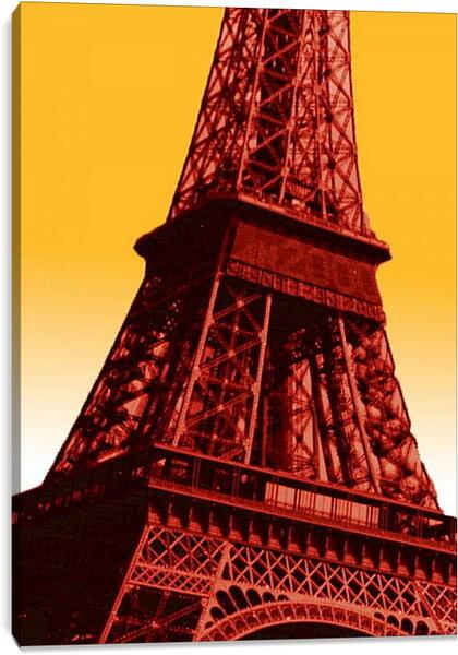 Постер на подрамнике - Эйфелева башня. Поп-арт