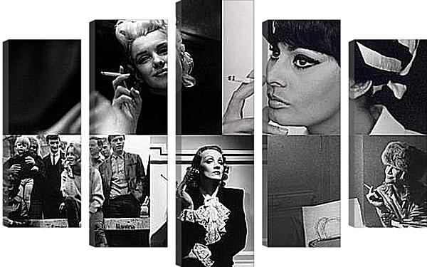 Модульная картина - Девушки с сигаретами