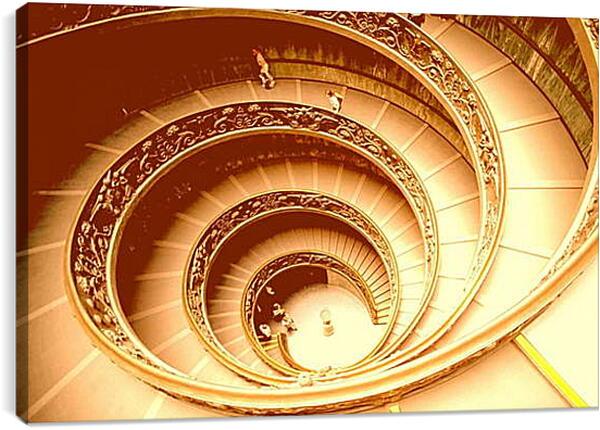 Постер на подрамнике - Лестница Ватикан