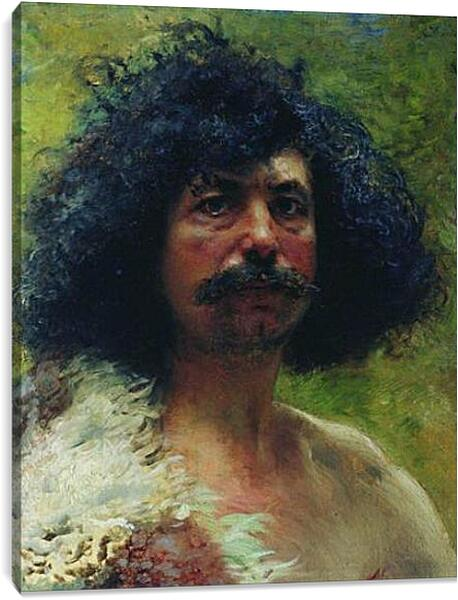 Постер на подрамнике - Этюд мужской головы