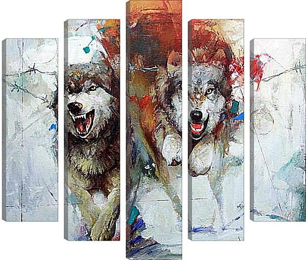 Модульная картина - Волки