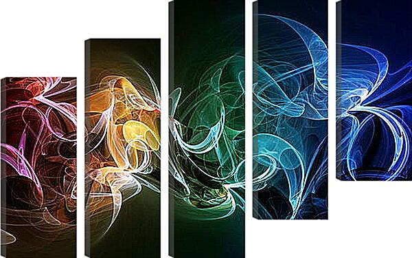 Модульная картина - Разноцветный дым