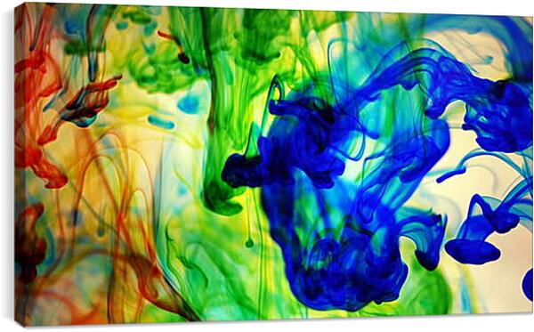 Постер на подрамнике - Разноцветный дым