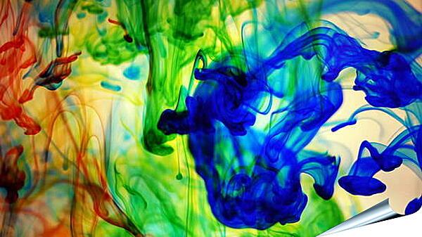 Плакат на стену - Разноцветный дым