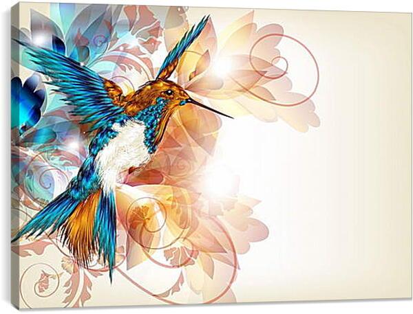 Постер на подрамнике - Колибри