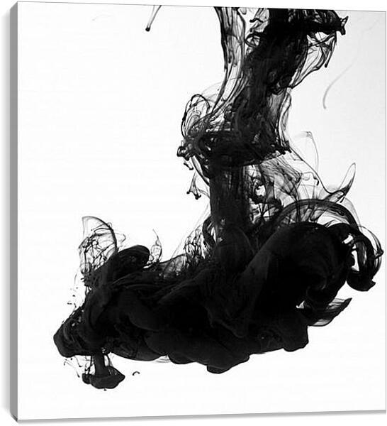 Постер на подрамнике - Черный дым