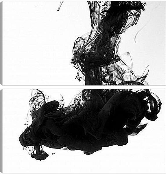 Модульная картина - Черный дым