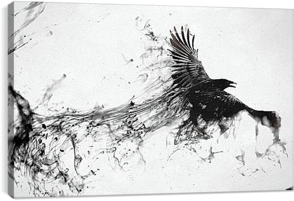 Постер на подрамнике - Ворон