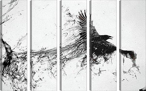 Модульная картина - Ворон
