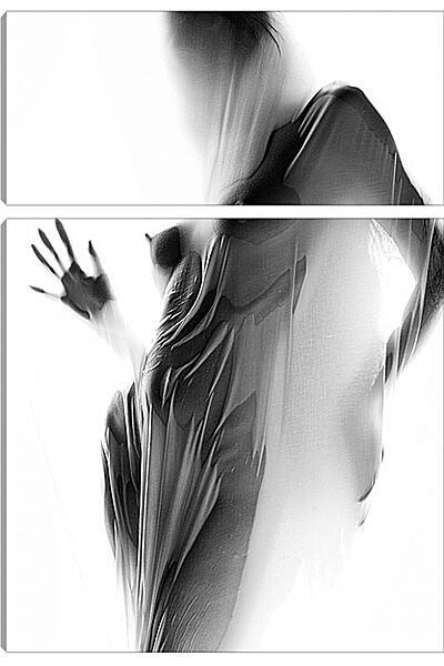 Модульная картина - Силуэт девушки