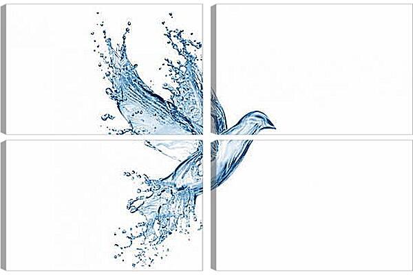 Модульная картина - Голубь абстракция