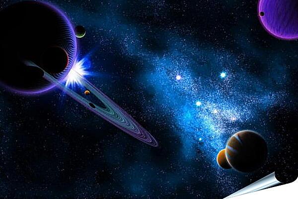 Плакат на стену - Космос, планеты