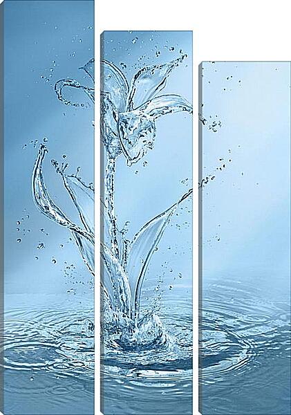 Модульная картина - Цветок из воды