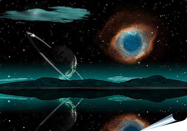 Плакат на стену - Неизвесная планета