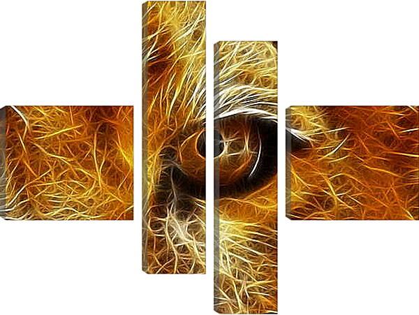 Модульная картина - Взгляд льва
