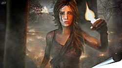 Плакат на стену - tomb raider, girl, torch