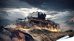 Плакат на стену - world of tanks blitz, wargaming net, kv-1