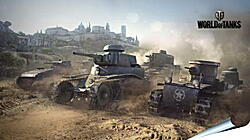 Плакат на стену - world of tanks, t1, renault ft