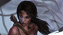 Плакат на стену - lara croft, tomb raider, art