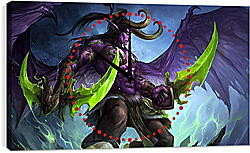Часы картина - world of warcraft, illidan stormrage, art