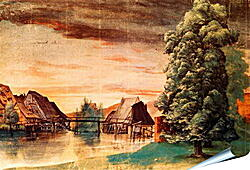 Плакат на стену - The Cooper Mill on the Pegnitz. Альбрехт Дюрер