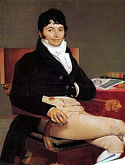 Плакат на стену - Portrait of Philibert Riviere. Жан Огюст Доминик Энгр