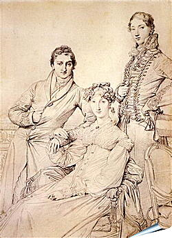 Плакат на стену - Portrait of Joseph Woodhead and His Wife. Жан Огюст Доминик Энгр