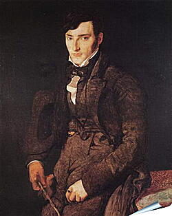 Плакат на стену - Portrait of Jean Pierre Francois Gilibert. Жан Огюст Доминик Энгр