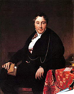 Плакат на стену - Portrait of Jacques Louis Leblanc, seated. Жан Огюст Доминик Энгр