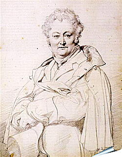 Плакат на стену - Portrait of Guillaume Guillon Lethiere. Жан Огюст Доминик Энгр