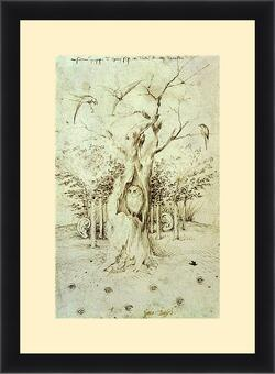 Картина в раме - The Trees Have Ears and the Field Has Eyes by Hieronymus Bosch. Иероним Босх