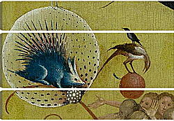 Модульная картина - The Garden of Earthly Delights, central panel porcupine. Иероним Босх