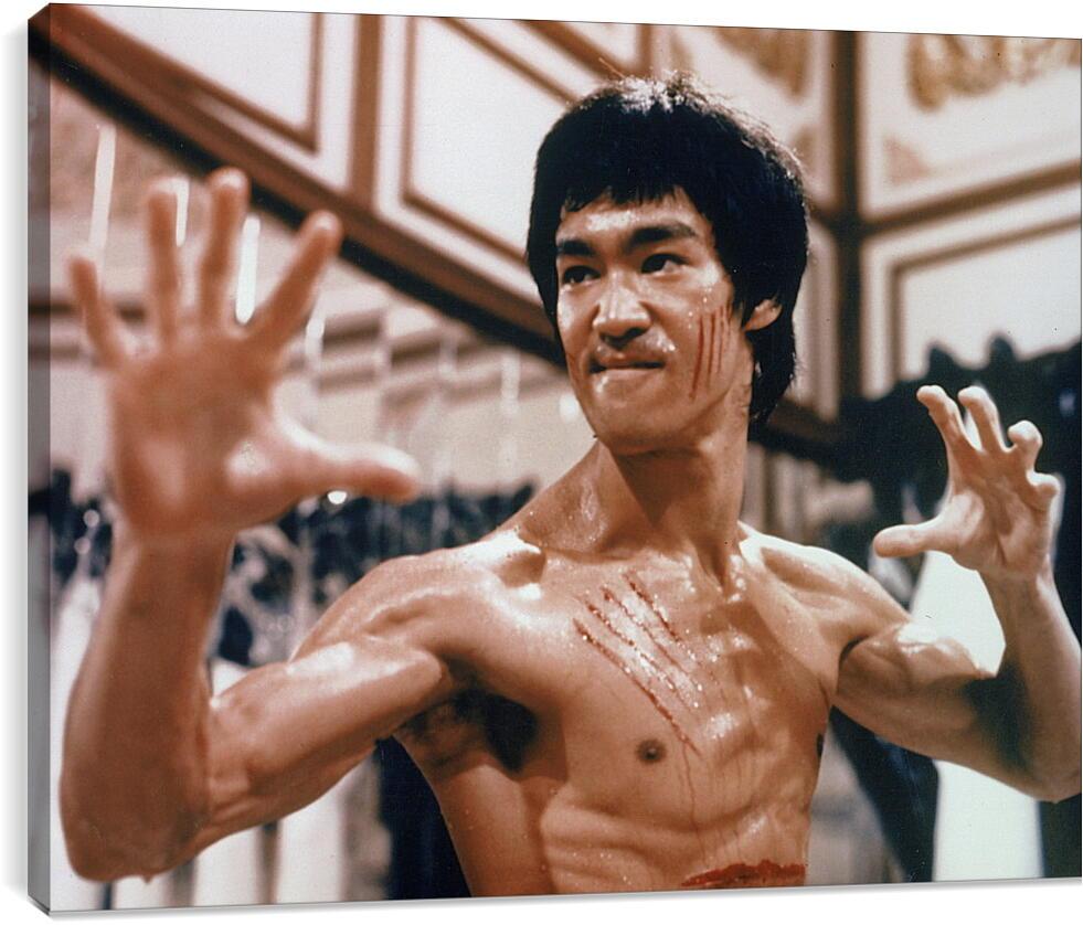 Брюс Ли (Bruce Lee)Личности<br>Модульная картина из 2 частей . Любые размеры и конфигурации на выбор. Материал печати: натуральный холст.<br>Размер: 90x71 см., 120x94 см., 150x118 см.;