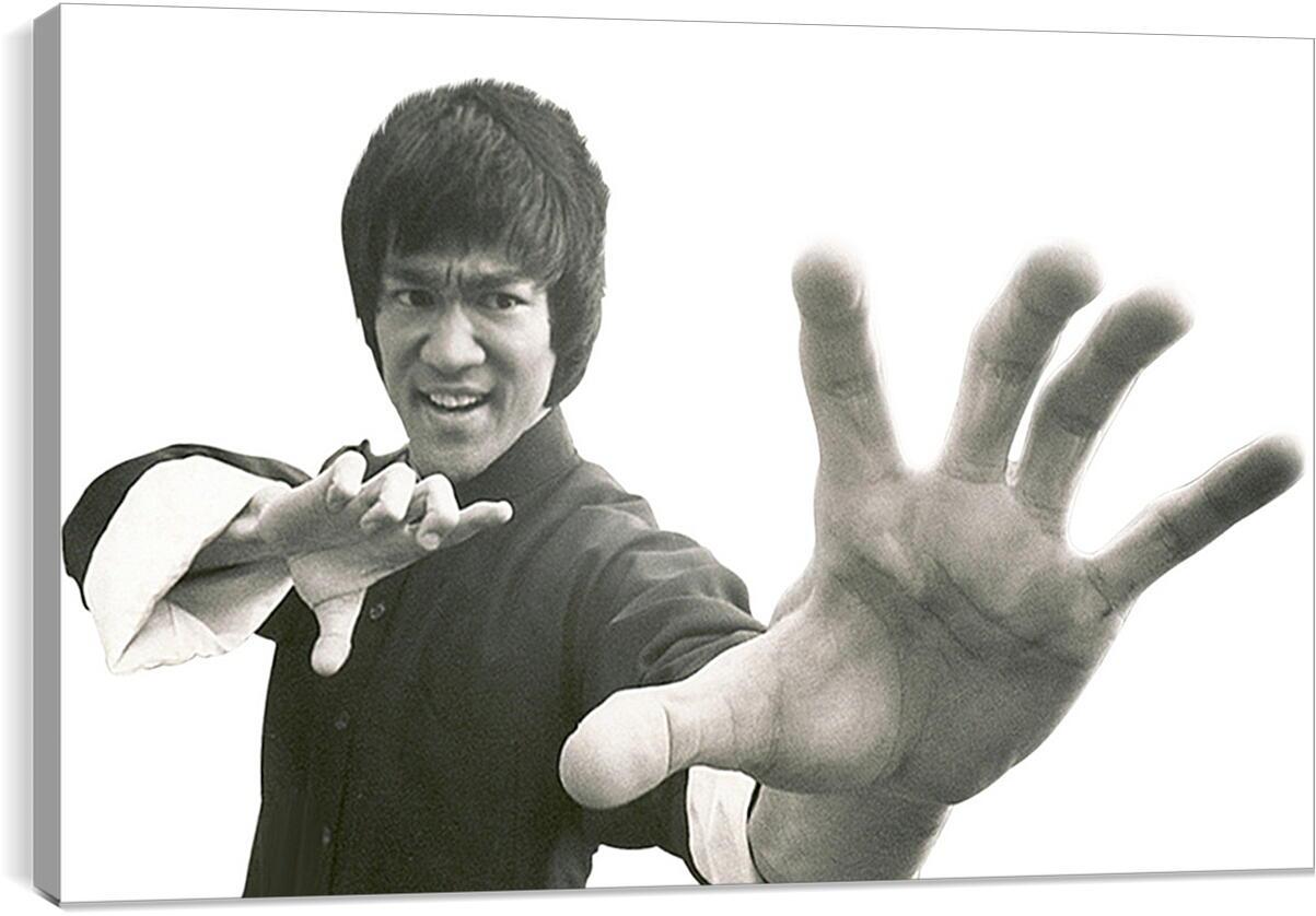 Брюс Ли (Bruce Lee)Личности<br>Модульная картина из 2 частей . Любые размеры и конфигурации на выбор. Материал печати: натуральный холст.<br>Размер: 90x58 см., 120x77 см., 150x96 см.;