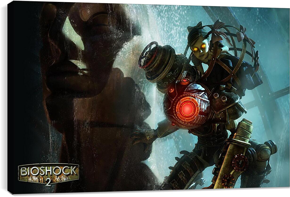 Bioshock 2Видео игры<br>Модульная картина из 3 частей . Любые размеры и конфигурации на выбор. Материал печати: натуральный холст.<br>Размер: 90x56 см., 120x75 см., 150x94 см.;