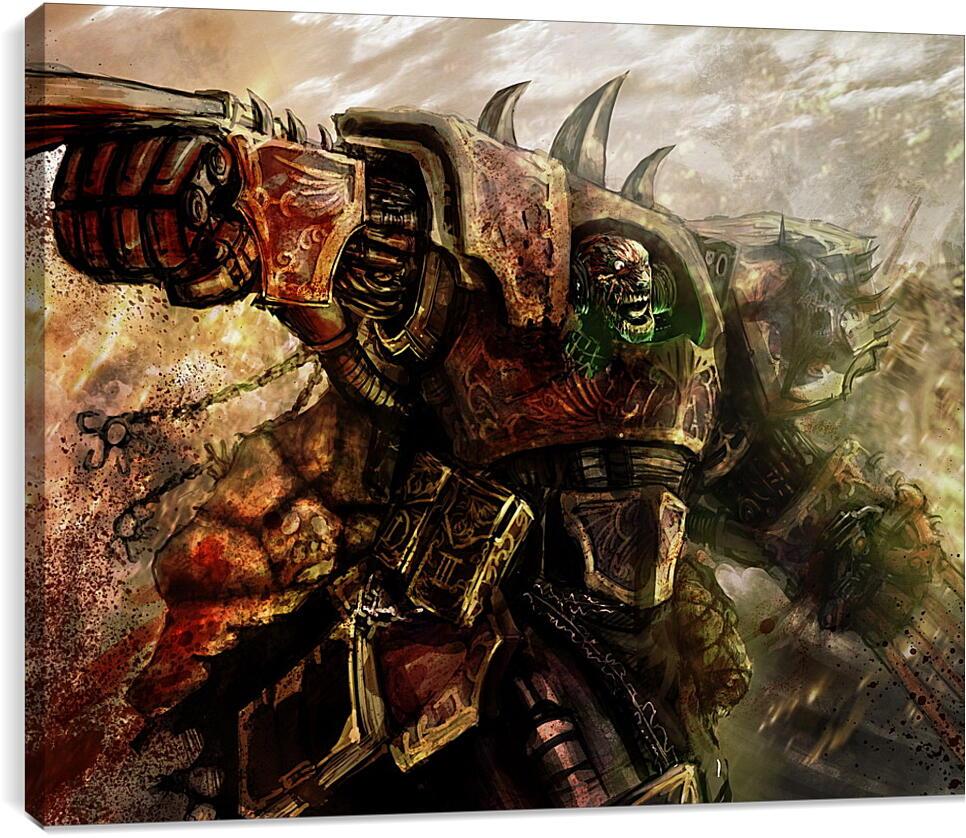 WarhammerВидео игры<br>Модульная картина из 3 частей . Любые размеры и конфигурации на выбор. Материал печати: натуральный холст.<br>Размер: 90x72 см., 120x96 см., 150x120 см.;