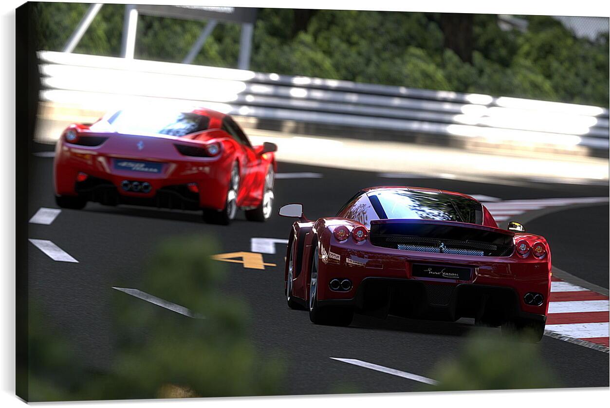 Gran TurismoВидео игры<br>Модульная картина из 5 частей . Любые размеры и конфигурации на выбор. Материал печати: натуральный холст.<br>Размер: 90x55 см., 120x74 см., 150x92 см.;