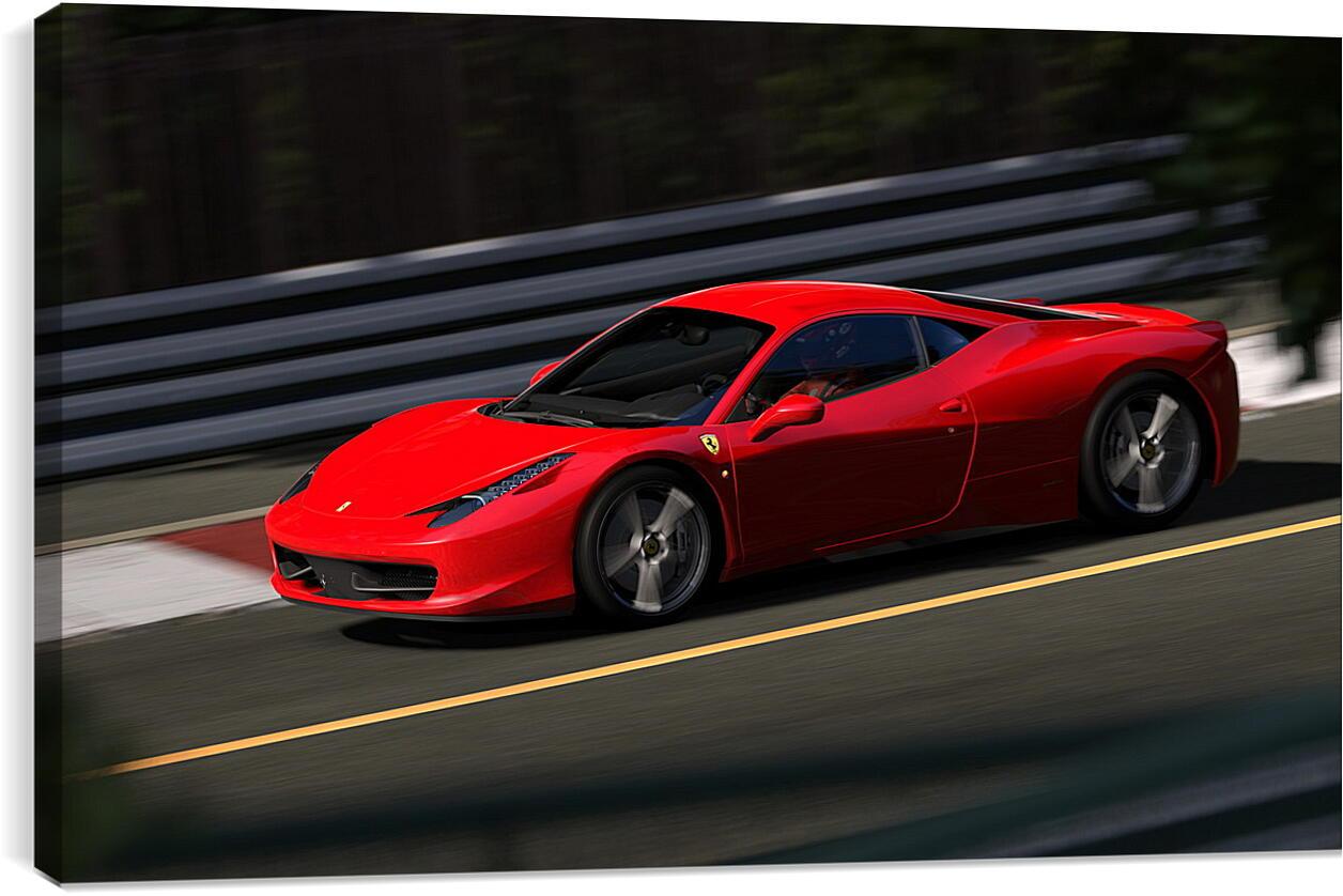 Gran TurismoВидео игры<br>Модульная картина из 4 частей . Любые размеры и конфигурации на выбор. Материал печати: натуральный холст.<br>Размер: 90x55 см., 120x74 см., 150x92 см.;