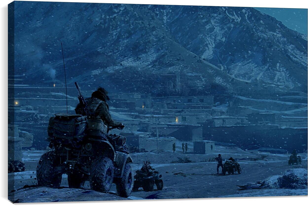 Medal Of HonorВидео игры<br>Модульная картина из 2 частей . Любые размеры и конфигурации на выбор. Материал печати: натуральный холст.<br>Размер: 90x55 см., 120x74 см., 150x92 см.;
