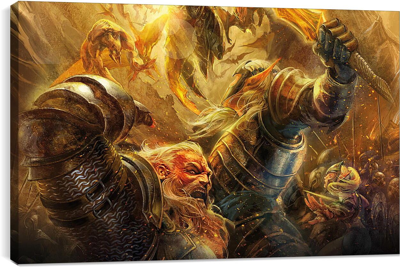Runes Of MagicВидео игры<br>Модульная картина из 4 частей . Любые размеры и конфигурации на выбор. Материал печати: натуральный холст.<br>Размер: 90x55 см., 120x74 см., 150x92 см.;