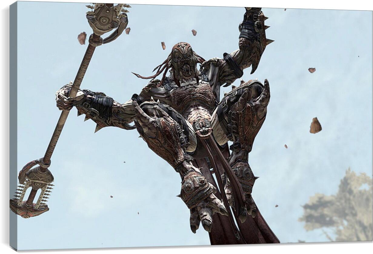 Gears Of War 2Видео игры<br>Модульная картина из 2 частей . Любые размеры и конфигурации на выбор. Материал печати: натуральный холст.<br>Размер: 90x56 см., 120x75 см., 150x94 см.;
