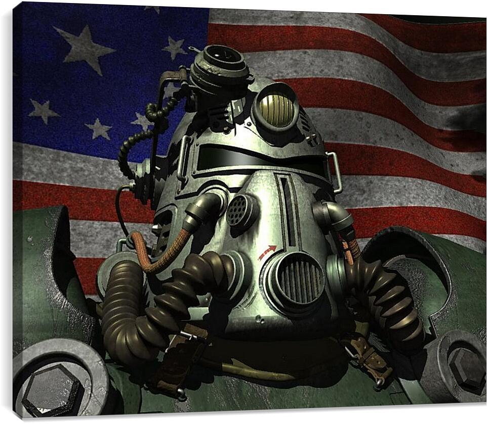 FalloutВидео игры<br>Модульная картина из 3 частей . Любые размеры и конфигурации на выбор. Материал печати: натуральный холст.<br>Размер: 90x72 см., 120x96 см., 150x120 см.;