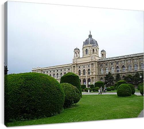 Kunsthistorisches Museum Wien - Художественно-исторический музей в ВенеАрхитектура<br>Модульная картина из 4 частей . Любые размеры и конфигурации на выбор. Материал печати: натуральный холст.<br>Размер: 90x68 см., 120x90 см., 150x113 см.;