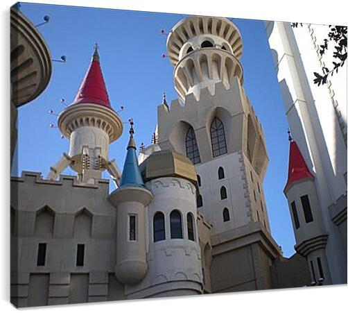 Hotel Excalibur in Las Vegas - Отель Экскалибур в Лас ВегасеАрхитектура<br>Модульная картина из 3 частей . Любые размеры и конфигурации на выбор. Материал печати: натуральный холст.<br>Размер: 90x68 см., 120x90 см., 150x113 см.;